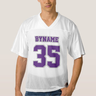 Front PURPLE SILVER GRAY WHITE Men Football Jersey