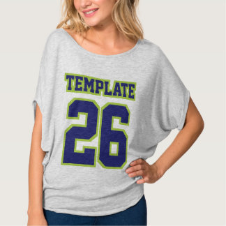 Front SILVER NAVY LIME Womens Bella Flowy Circle T-Shirt