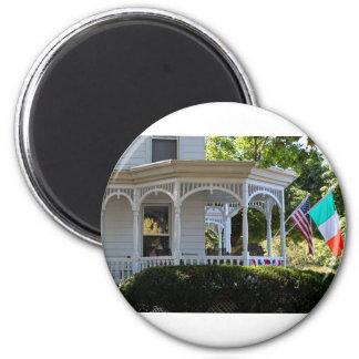 Front Street Porch 2 Inch Round Magnet