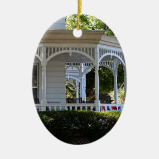 Front Street Porch Ceramic Oval Ornament