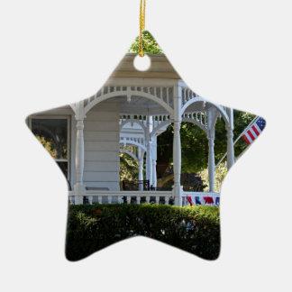 Front Street Porch Ceramic Star Ornament