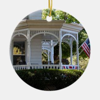 Front Street Porch Round Ceramic Ornament