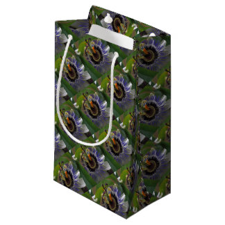 Front View of Beautiful Passiflora Flower Small Gift Bag