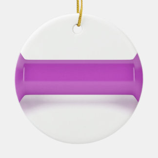 Front view of pink dumbbell ceramic ornament
