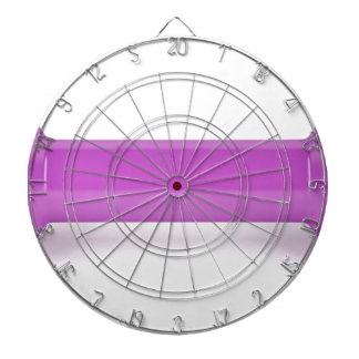 Front view of pink dumbbell dartboard