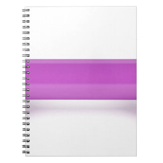 Front view of pink dumbbell notebooks