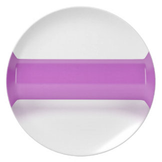 Front view of pink dumbbell plate