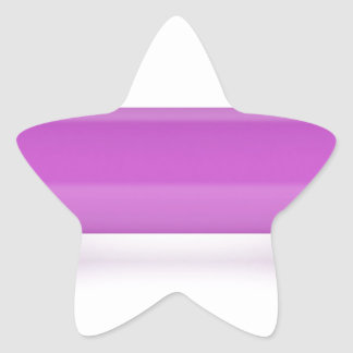 Front view of pink dumbbell star sticker