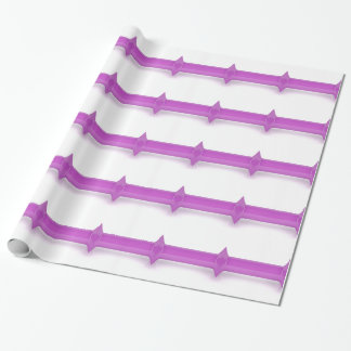 Front view of pink dumbbell wrapping paper