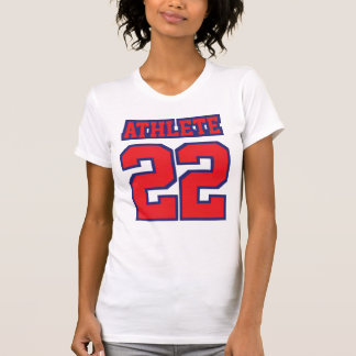 Front WHITE RED BLUE Women American Apparel Cotton T Shirts