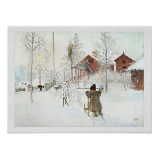 Front Yard and Wash House Carl Larsson Poster