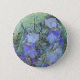 Front Yard Irises 2 Inch Round Button