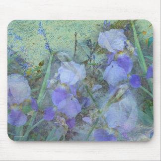 Front Yard Irises Mouse Pad