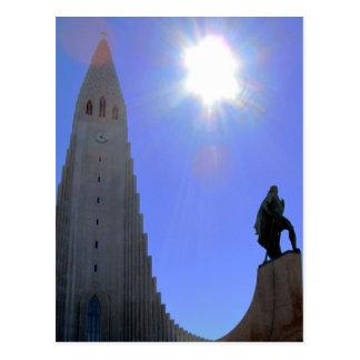 """""""Frontier Cathedral"""" - Reykjavik, Iceland Postcard"""