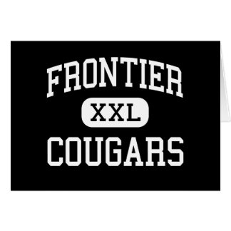 Frontier - Cougars - High - New Matamoras Ohio Greeting Card