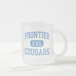 Frontier - Cougars - High - New Matamoras Ohio Frosted Glass Mug