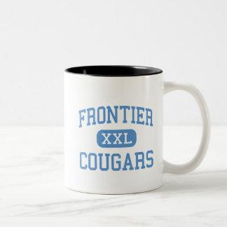 Frontier - Cougars - High - New Matamoras Ohio Two-Tone Mug
