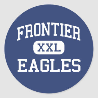 Frontier - Eagles - High - Fort Collins Colorado Round Sticker