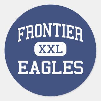 Frontier - Eagles - High School - Fairbanks Alaska Round Sticker