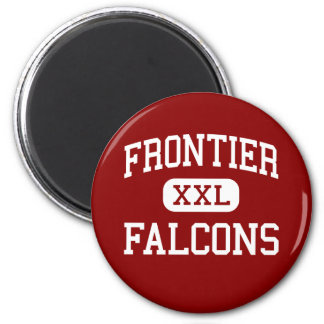 Frontier - Falcons - High - Chalmers Indiana 2 Inch Round Magnet
