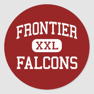 Frontier - Falcons - High - Chalmers Indiana Round Sticker