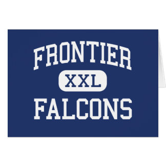 Frontier - Falcons - High - Hamburg New York Greeting Card