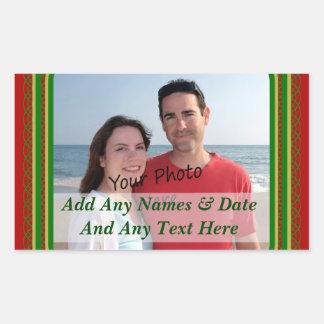 Frontière de Noël pour vos autocollants de photo