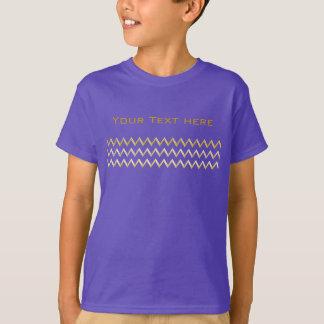 Frontière d'or - zigzag + votre dos et texte t-shirt