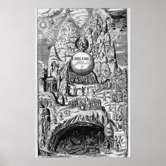 """Frontispice aux """"emblèmes"""" de George Wither, 1635 Affiches"""