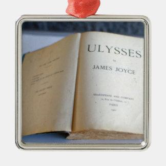 """Frontispice de """"Ulysse"""" par James Joyce Ornement Carré Argenté"""