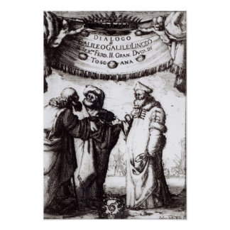 Frontispiece 'Dialogo sopra I due massimi�' Poster