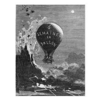 Frontispiece to 'Five Weeks in a Balloon' Postcard