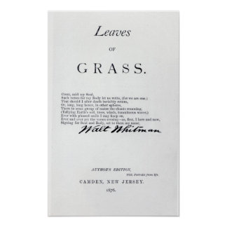 Frontispiece to 'Leaves of Grass' Poster