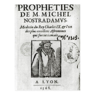 Frontispiece to 'Les Propheties de M. Michel Postcard