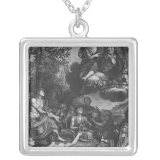 Frontispiece to 'Oeuvres' by Nicolas Boileau Silver Plated Necklace