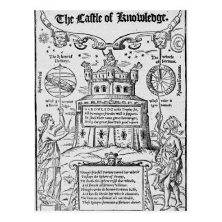 Frontispiece to 'The Castle of Knowledge' Postcard