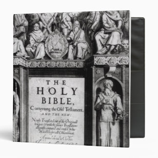Frontispiece to 'The Holy Bible' 3 Ring Binders