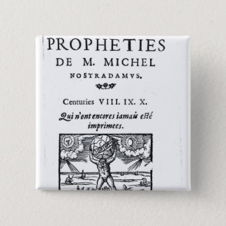 Frontispiece to 'The Prophecies 2 Inch Square Button