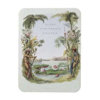 Frontispiece to 'Views in the Interior of Guiana', Rectangular Photo Magnet