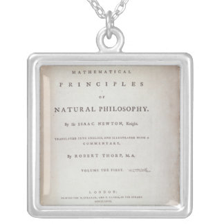 Frontispiece to Volume I Silver Plated Necklace