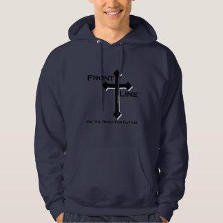 Frontline Navy Hoodie (Front Logo)