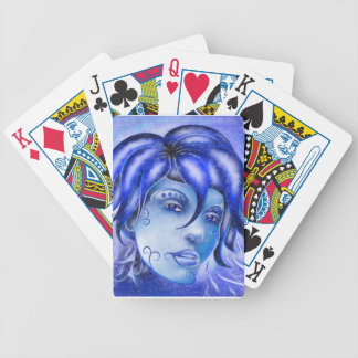 Frosinissia V1 - frozen face Bicycle Playing Cards