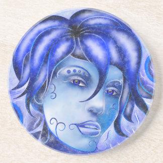 Frosinissia V1 - frozen face Drink Coaster