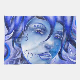 Frosinissia V1 - frozen face Kitchen Towel