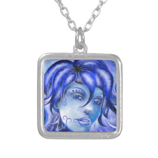 Frosinissia V1 - frozen face Silver Plated Necklace