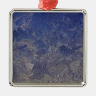Frost 1 Silver-Colored square ornament