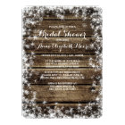 Frost Bite Barn Wood Rustic Winter Bridal Shower Card