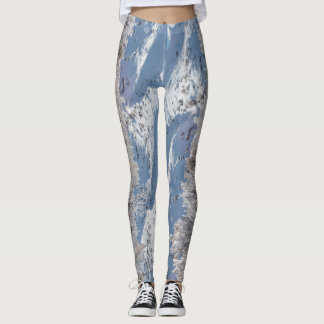 Frost Covered Colorado Trees Leggings