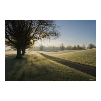 Frost-Covered Golf Course Poster