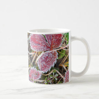 Frost covered leaves, Canada Coffee Mug